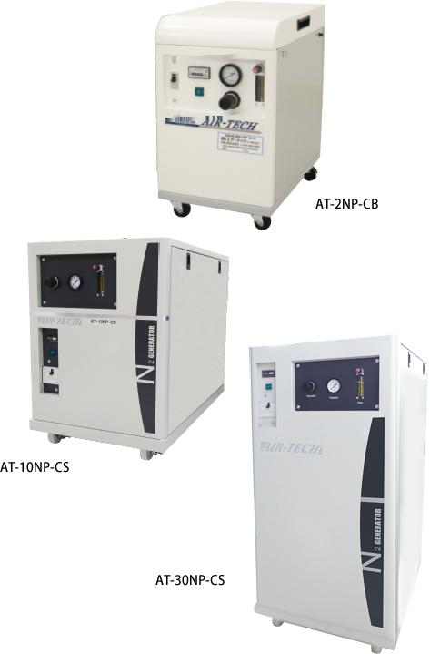 Membrane series Nitrogen gas generators with built-in compressor